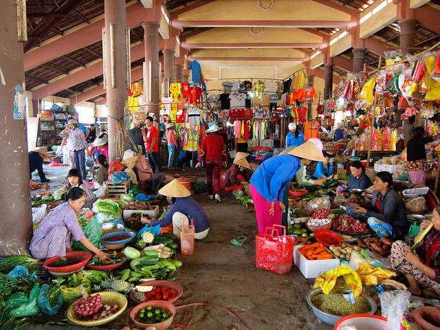 A market in the countryside of Hue